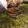Three sizes of copper bypass bangle bracelets